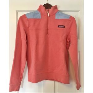 Vineyard Vines Shep Shirt - Coral with Oxford Blue